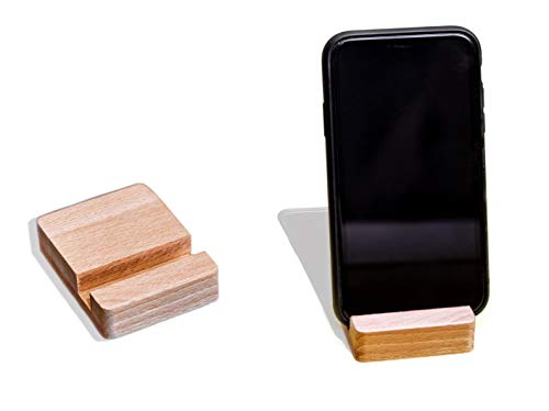 Soporte universal para teléfono móvil de mesa, soporte para smartphone, de madera, para escritorio, para oficina