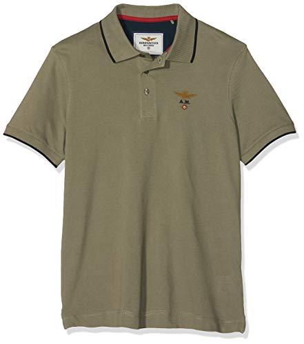 Aeronautica Militare M.C. Camisa de Polo, Verde (Salvia 0721