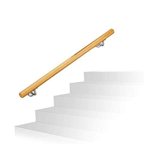 KUNYI Treppenhandlauf, Komplett-Set Runde Massivholz rutschfeste Wand Sicherheit Geeignet for Indoor Mall Bar Restaurant (Size : 120cm)