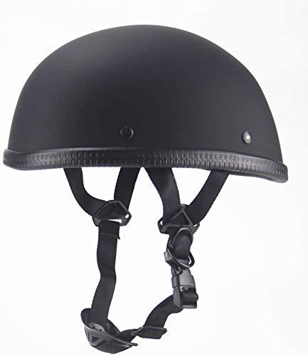 Low-Key Retro Motorcycle Harley Half Helmet Cruiser Youth DOT Certification Half Shell Best Pilot Open Matte Black Helmet,Medium