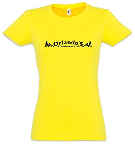 Urban Backwoods ORLANDO'S Mujer Girlie Women T-Shirt - Gentlemen's Club Bar Restaurant Disco The Strip Avon Series Barksdale Sign Logo Symbol D'Angelo Wire TV Series Tamaños XS - 2XL