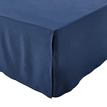 queen bed skirt navy