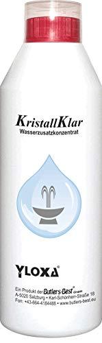 Butlers-Best GmbH Yloxa KRISTALLKLAR - Wasserzusatzkonzentrat für Brunnen, Wasserwände, säulen, kaskaden und Vernebler im Innen- und Außenbereich - 250 ml Flasche