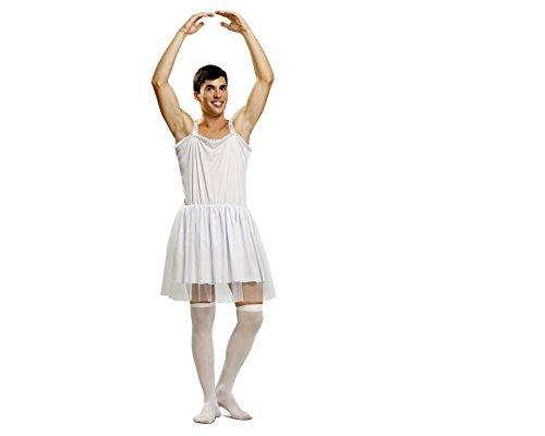My Other Me - Disfraz de Bailarina para hombre, talla M-L, color blanco (Viving Costumes MOM01349)