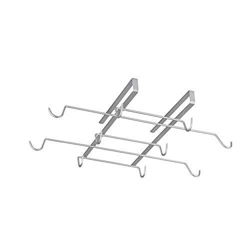 Metaltex Spidermug Colgador de Tazas, Metal, Gris, 37x28x6 cm