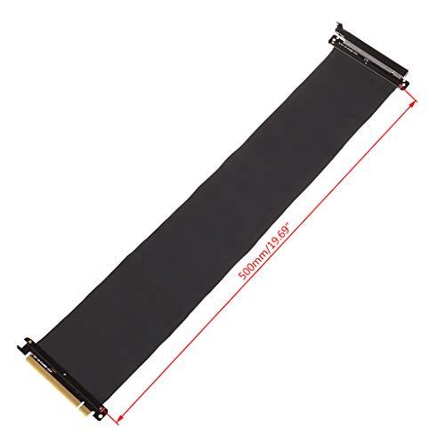 siwetg High Speed PC Grafikkarten PCI Express 3.0 16x flexibles Verbindungskabel Riser-Karte Verlängerung Port Adapter für GPU mit Anti-Jam Pcie 16X auf 16X Flexibles Kabel