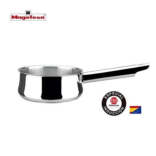 MAGEFESA Ideal – La Familia de Productos MAGEFESA Ideal está Fabricada en Acero Inoxidable 18/10, Compatible con Todo Tipo de Fuego. Fácil Limpieza y Apta lavavajillas. (CAZO, 16_cm)
