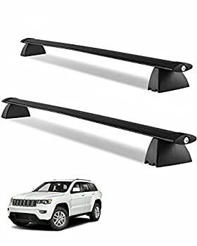 YITAMOTOR Cross Bars Roof Racks Compatible for 2011-2021 Jeep Grand Cherokee with Grooved Side Rails Lockable Rooftop Luggage Crossbars for Carrying Cargo Carrier Bag Camping Gear Bike