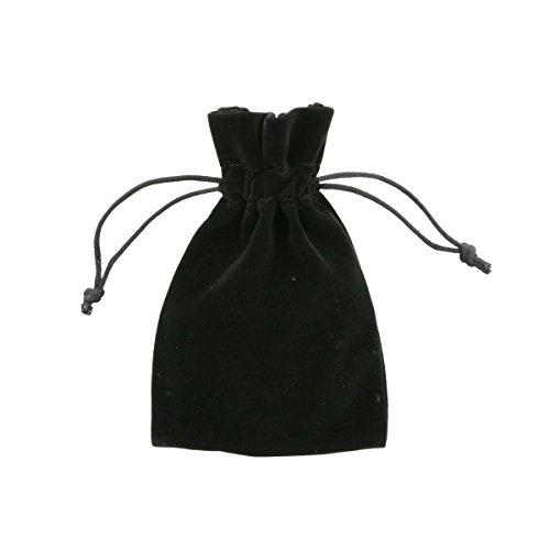 100 Stück Samt Schmucktaschen 10x15cm Schwarz - Elegant Samt Geschenk Taschen - von Shingyo