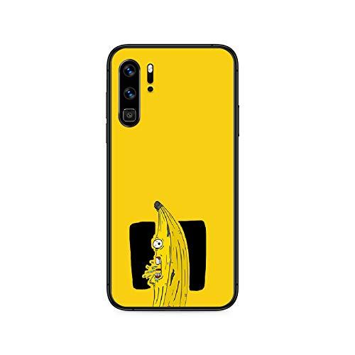 plátanos de dibujos animados lindo teléfono caso Para Huawei P Mate Smart 10 20 30 40 Lite Z 2019 Pro negro Etui funda de lujo moda coque pretty-8-P30 Pro