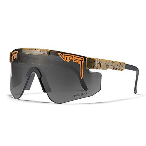 WOXING Polarizadas Vintage Gafas De Sol,Súper Liviana Marco HD Gafas,Deportivas Ciclismo Correr Pesca Golf Aire Libre Deportes Viajes Esquiando-I 13.7x5.8cm(5x2inch)