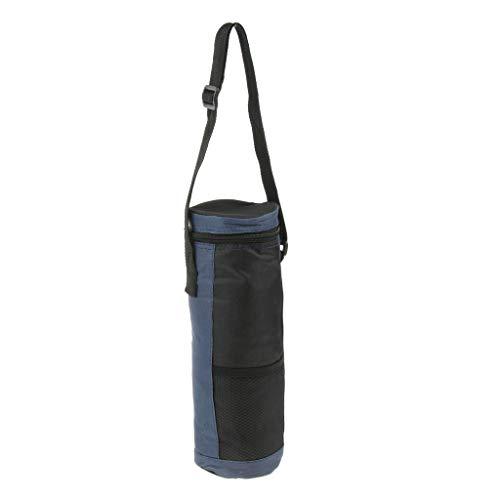 SM SunniMix Raffreddatore Isolante Impermeabile 2L, Custodia per Bottiglia di Acqua Oxford Borsa per Bere Acqua, Bottiglia, Pranzo, con Tracolla Rego - Blu, Come descritto