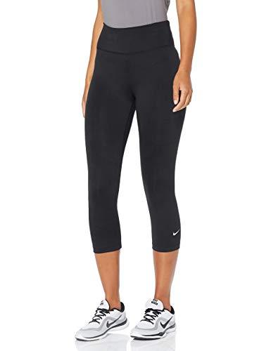 Nike Damen W ONE Tight CPRI Sport Trousers, Black/(White), M
