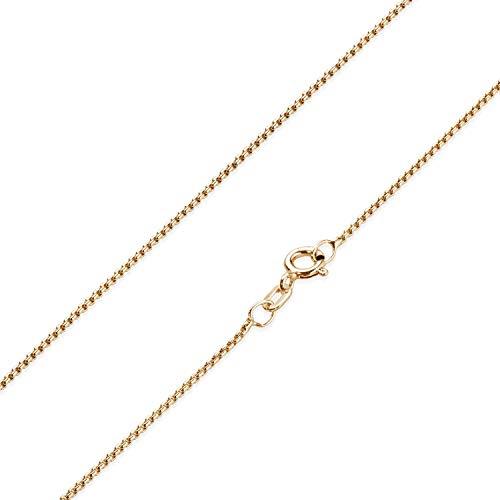 Materia K101 - Collana da donna in argento 925 placcato oro rosa, 1,2 mm e Placcato oro, colore: Oro rosa, cod. K101