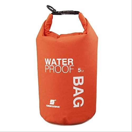 Bolsa Seca Impermeable De 5 L: La Bolsa Seca con Tapa Enrollable Mantiene El Equipo Seco para Navegar, IR De Excursión, Acampar Y Pescar
