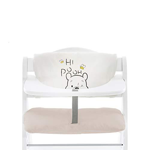 Hauck Highchair Pad Deluxe, Hochstuhlauflage für Hauck Holzhochstuhl Alpha+, Einfache Befestigung, Disney Pooh Cuddles (Beige)
