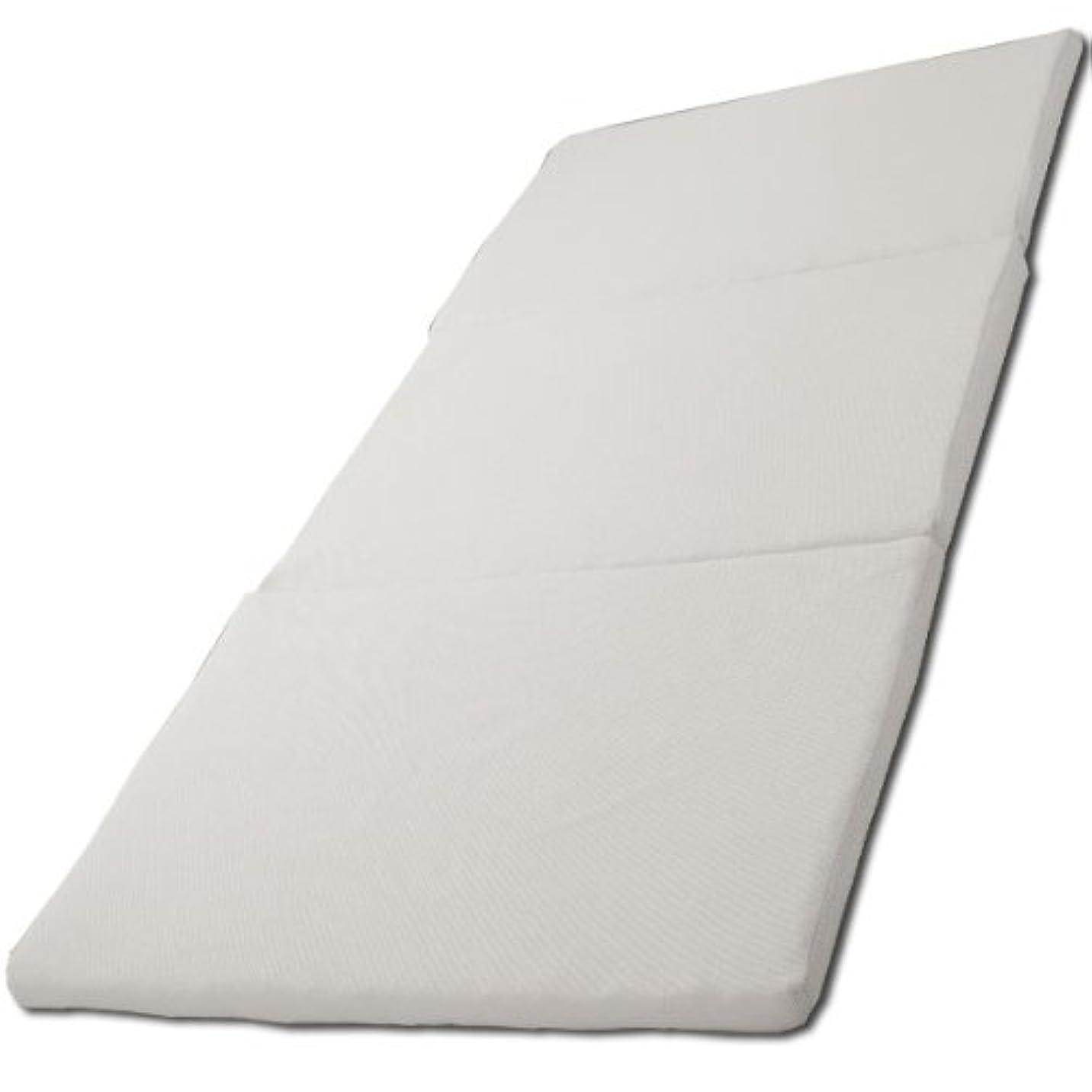 アイリスオーヤマ エアリー マットレス 三つ折り 厚さ5cm 高反発 通気性 高耐久性 抗菌防臭 洗える シングル ホワイト MAR-S