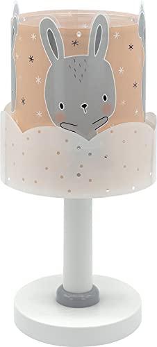 Lámpara Infantil De Mesa Baby Bunny Conejito Rosa