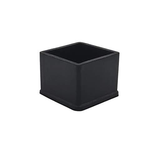 Flyshop Chair Leg Caps, Rubber Protective Caps, Durable, Non-scratch, Square 35 x 35mm, 10pcs, Black