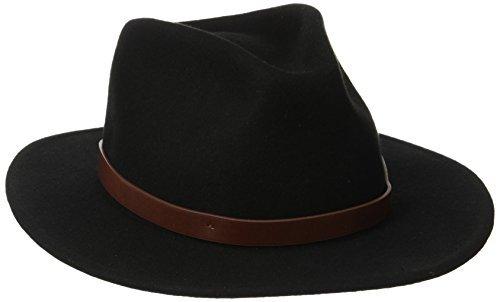 Brixton Messer Hat Black Black/Brown Size:L by Brixton