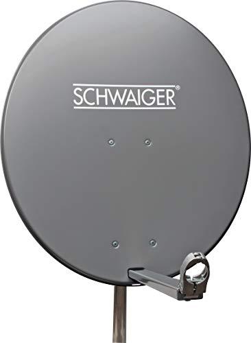 Schwaiger Aluminium Offset-Antenne anthrazit (80 cm)