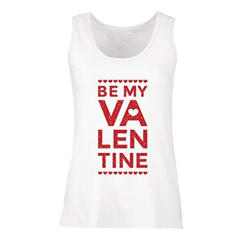 lepni.me T-shirt, mouwloos, voor dames, met romantisch design