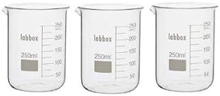 comprar comparacion Vaso de precipitados vidrio borosilicato LBG 3.3-250ml - 3 Unidades