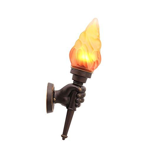 Vinteen torche de feu Lampe de main gauche Rétro industrie lanterne murale Créative Personnalité Café de l'américain Escaliers Couloir Corridor Bar Applique murale de la terrasse imperméable