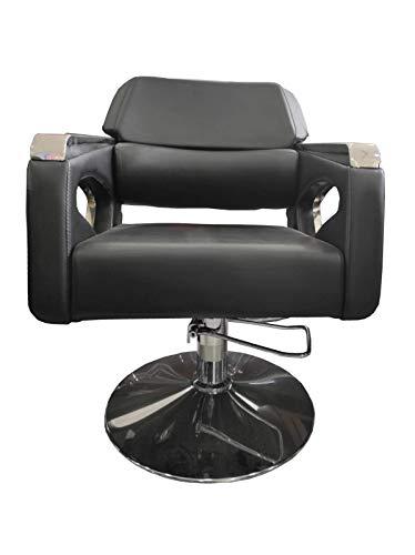 Cris nails - sillón giratoria 360º con base fijo y apoyapiés, altura regulable, uso profesional para peluquería, tienda de tatuaje, salón de Belleza, masajería (modelo 006-78)
