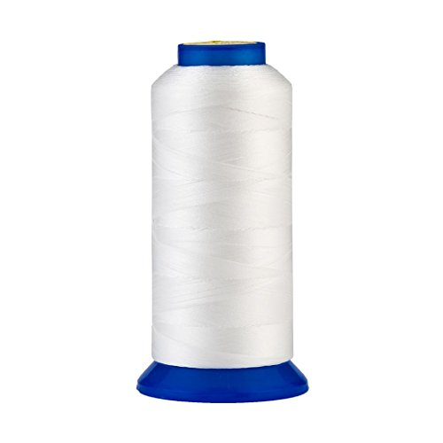 Selric [1500Yards / 30 Colors Available] UV Resistant High Strength Polyester Thread #69 T70 Size 210D/3 for Upholstery, Outdoor Market, Drapery, Beading, Purses, Leather (White)