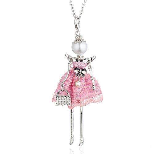 VAWAA Nouveau Collier de poupée pour Les Filles Robe en...