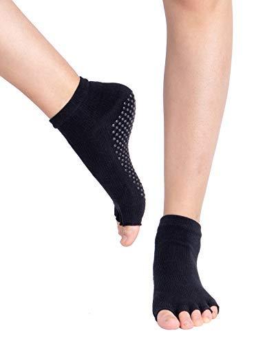 ヨガ ソックス 靴下 3色3足組 綿95% コットン スポーツ 靴下 5本指 指なし 滑り止め 滑り止めソックス マタニティソックス