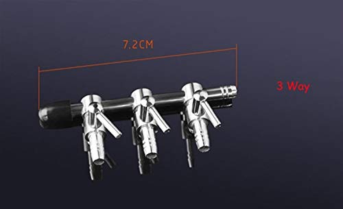 JINGBA 1 2 3 4 5 Vie Acquario Air Pump Splitter valvola Fish Tank Air Flow Splitter Distributore Pompa Valvola Rubinetto a Leva Interruttore di Comando di Valve (Color : 3 Way)