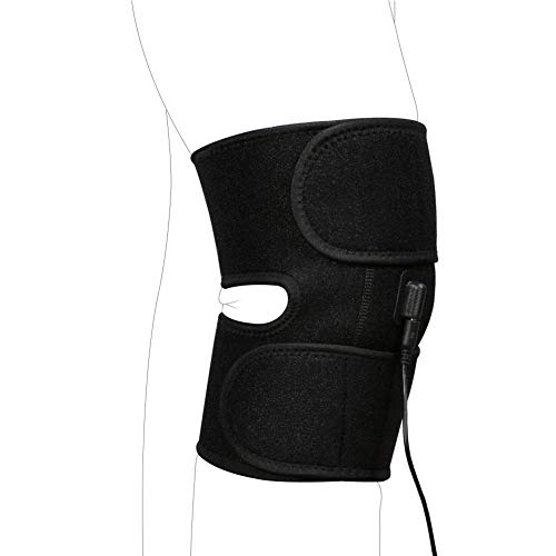 Almohadilla térmica ajustable Terapia de calor Calentamiento Rodillera Envoltura Termoterapia Bolsillo Calentado Rodillera Rodillera para lesiones Calambres Recuperación de artritis