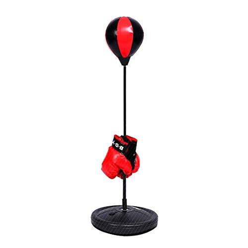 Estink Punchingball Set, Boxset für Kinder, mit Standfuß, Pumpe, Boxhandschuhe, höhenverstellbar von 70 bis 105 cm, für Reaktionstraining
