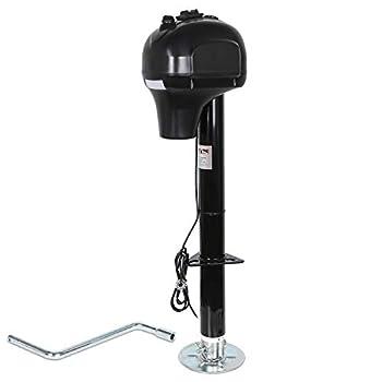 Weize Power Tongue Jack 3500 Lb Heavy Duty Electric Trailer Jack with Drop Leg 23-5/8  Lift 12V DC