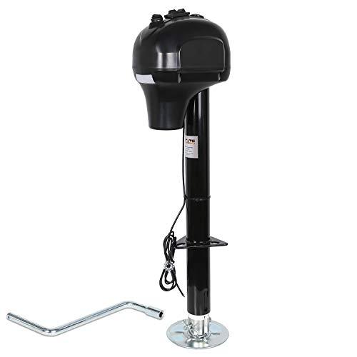 Weize Power Tongue Jack, 3500 Lb. Heavy Duty Electric Trailer Jack with Drop Leg, 23-5/8' Lift, 12V DC