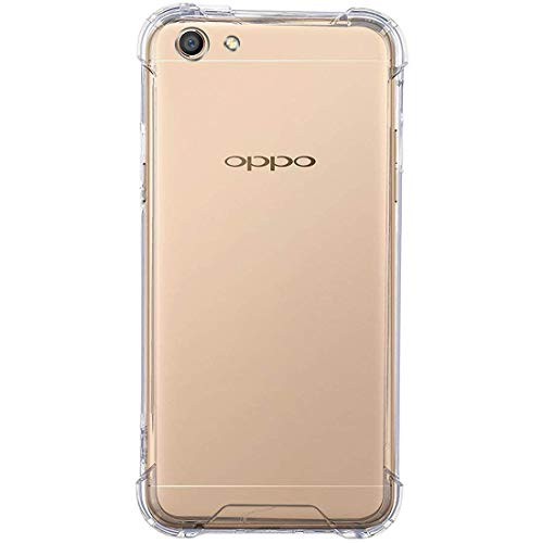 Amazon Brand – Solimo Mobile Cover (Soft & Flexible Shockproof Back Cover with Cushioned Edges)Transparent for Oppo F3
