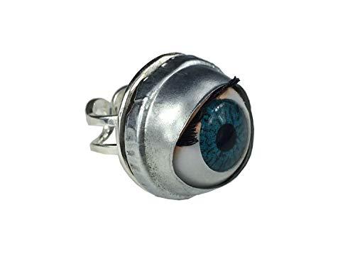Miniblings Auge Ring Augen Fingerring Halloween Grusel Organ Frankenstein Puppe