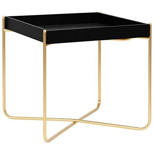Wakects Mesa auxiliar, diseño moderno, bandeja de pie con una bandeja de cristal extraíble, mesa de café redonda en diseño moderno, color plateado, 40 x 40 x 41 cm