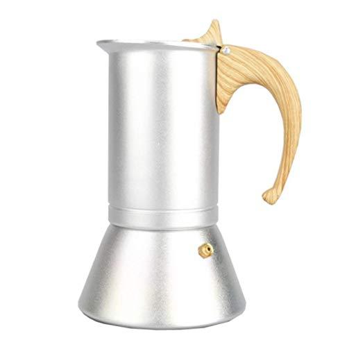 TARTIERY Cafetera Máquinas de café con mango ergonómico que calienta rápidamente la máquina de espresso para el hogar, 3 tazas cafetera para tu café y té de la mañana