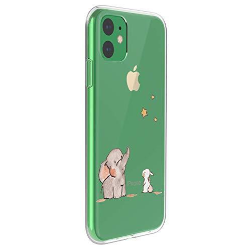 Suhctup Carcasa compatible con iPhone 8/iPhone 7 Funda transparente con dibujos TPU suave Bumper Case con motivo bonito en TPU silicona antigolpes 3D Vogue Ultra Chic