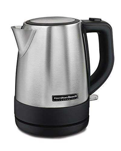 Hamilton Beach Commercial HKE110 1 Liter Hot Water Tea Kettle, Hospitality Rated, Stainless Steel…