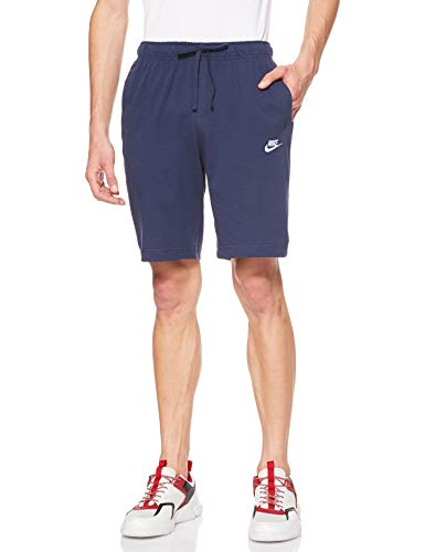 Nike Herren Shorts Sportswear Club Fleece, Midnight Navy/White, L, BV2772-410