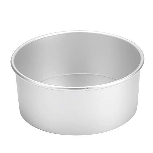 Antihaft-Runde Kuchenform, Aluminium-Backformen mit abnehmbarem Boden 4 Zoll/5 Zoll/6 Zoll/8 Zoll Geschirrspüler erhältlich(8 inch)