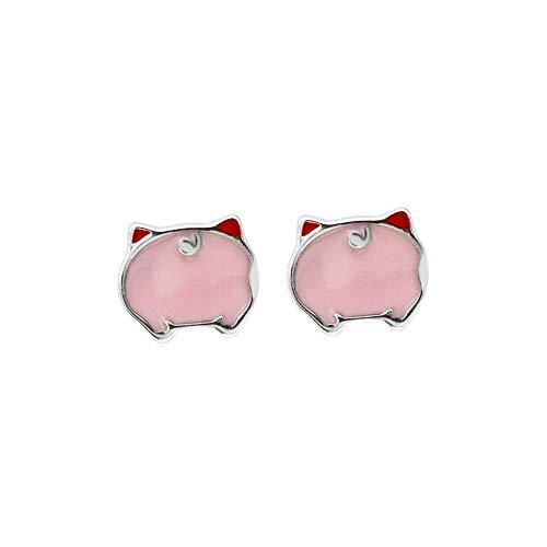 GDICONIC Pendientes Corea INSs925 Pendientes de Cerdo de Plata esterlina niñas Accesorios hipoalergénicos Lindos Joyas