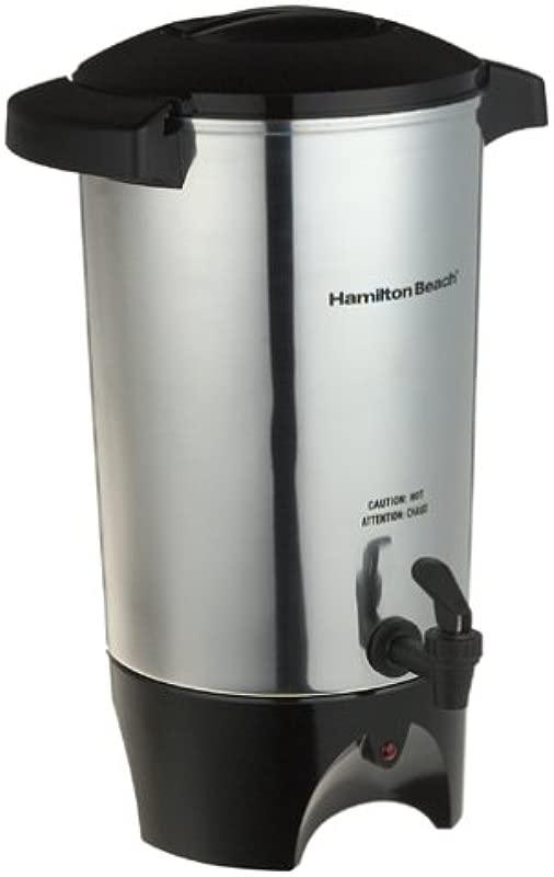 Hamilton Beach 45 Cup Coffee Urn And Hot Beverage Dispenser Silver 40515R