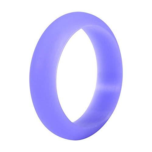 Banda de anillo de silicona 7 colores 5 tamaños Mujeres Anillo de silicona Banda flexible de entrenamiento al aire libre sin riesgos(6)