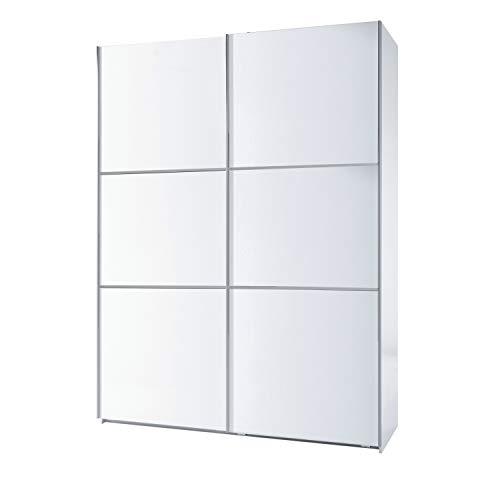 Habitdesign Armario Dos Puertas correderas, Armario Dormitorio, Acabado en Color Blanco Brillo, Medidas: 150 (Ancho) x 200 (Alto) x 63 cm (Fondo)