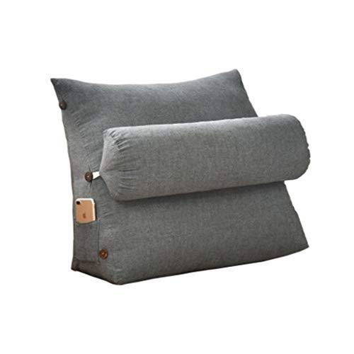 Lot de 6 coussins rectangulaires en coton et polyester coloris gris foncé